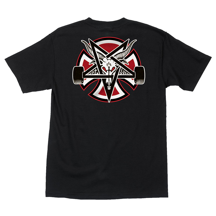 Футболка м Independent x Thrasher Pentagram Cross S/S Regular Черный