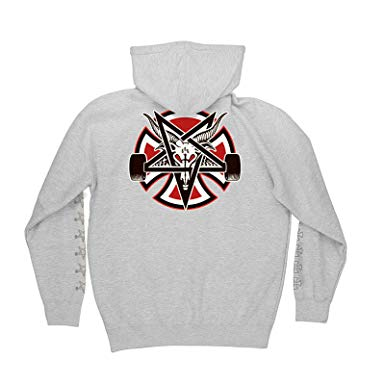 Толстовка Independent x Thrasher Pentagram Cross Pullover Hooded L/S Серый