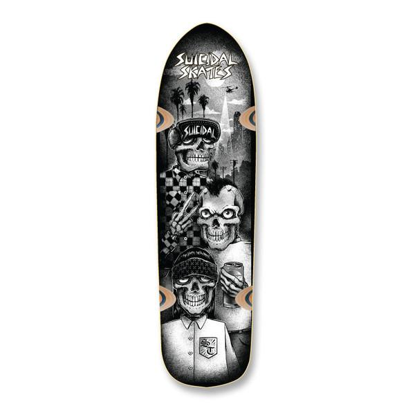 Дека Suicidal Tres Vatos Pool Skateboard Deck Черная