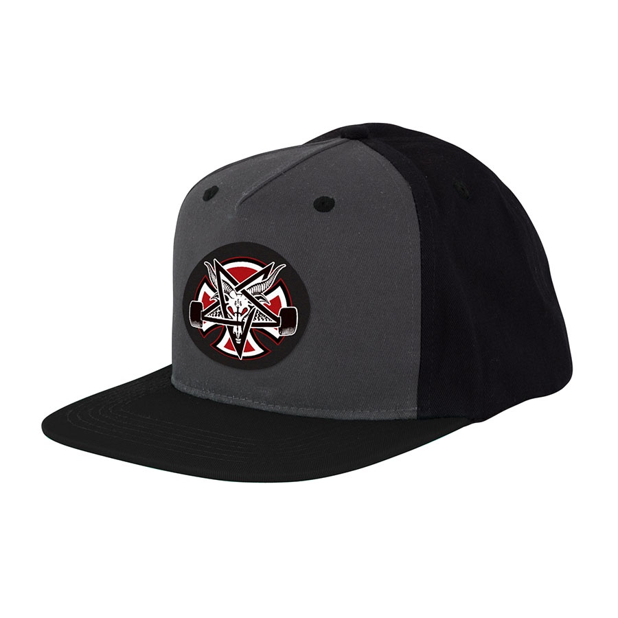 Бейсболка Independent x Thrasher Pentagram Cross Adjustable Snapback Hat Серая