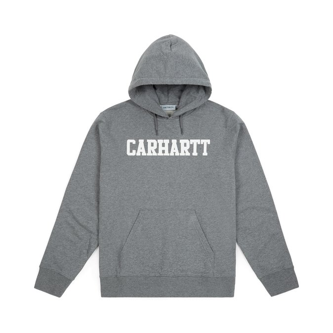 Толстовка с капюшоном Hooded College Sweatshirt Темно-серая