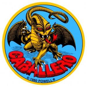 Наклейка Powell Peralta Cab Origial Dragon Голубая