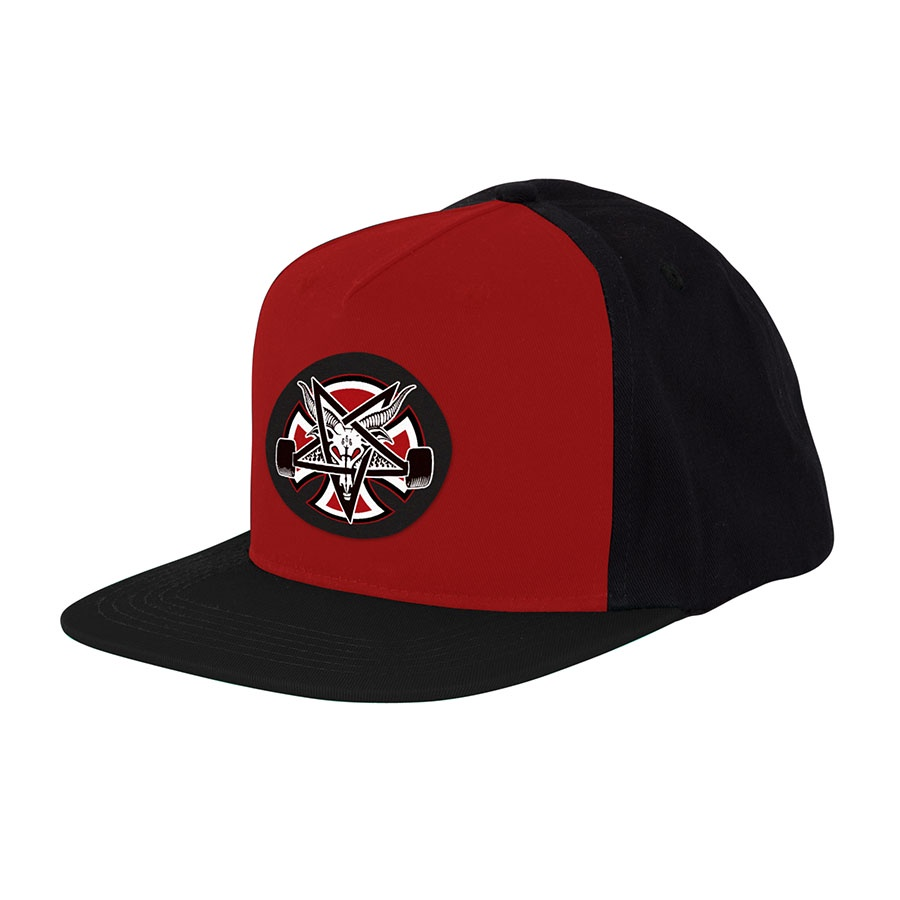 Бейсболка Independent x Thrasher Pentagram Cross Adjustable Snapback Hat Красная